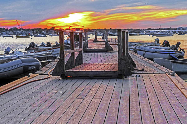 Photograph - Marblehead Ma Village Street Dock At Sunset Low by Toby McGuire
