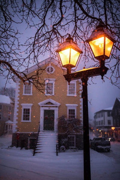 Photograph - Marblehead Old Town City Hall Marblehead Ma Lantern by Toby McGuire