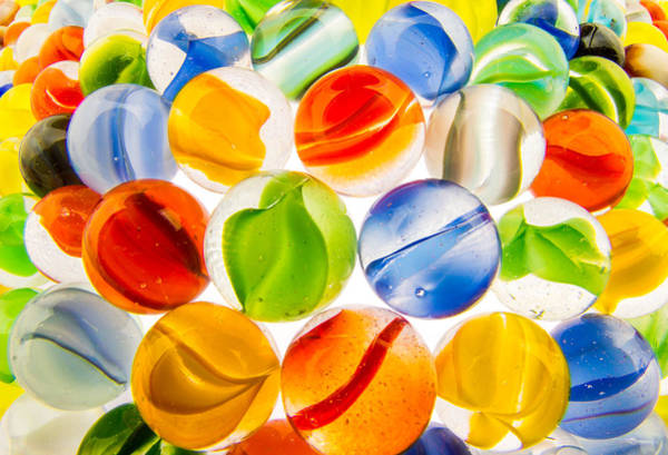 Photograph - Marbles 3 by Jim Hughes