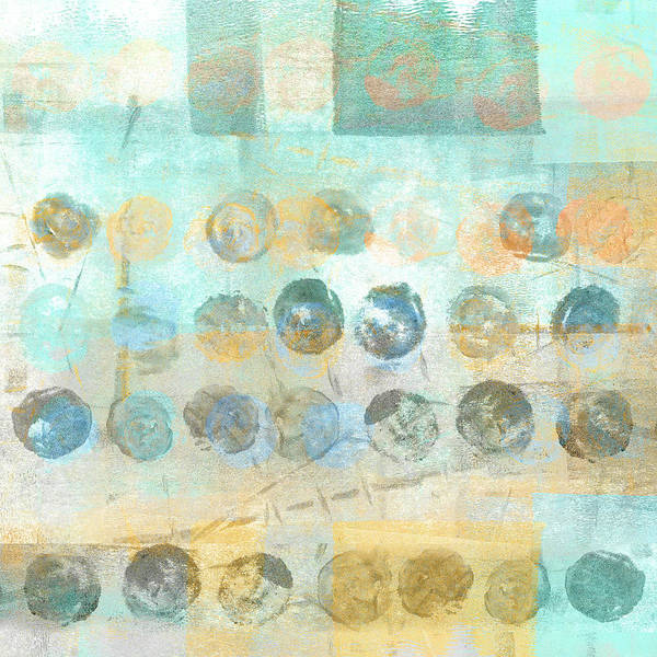 Dots Wall Art - Mixed Media - Marbles Found Number 4 by Carol Leigh