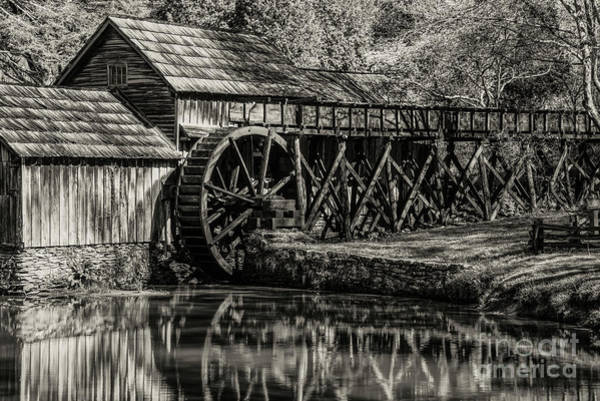 Photograph - Marby Water Mill 3 by Bob Phillips