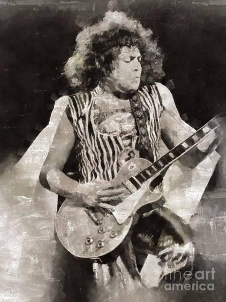 Wall Art - Painting - Marc Bolan, T-rex, Musician by Mary Bassett