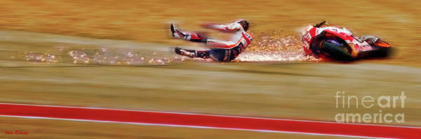 Photograph - Marc Marquez Sparkilng Moment by Blake Richards