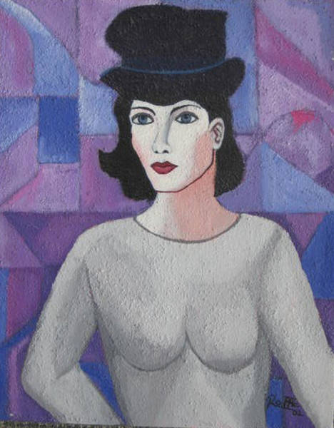 Wall Art - Painting - Marcela A Mime Lady by Sergio Roffe