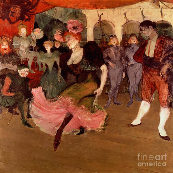 1864 Wall Art - Painting - Marcelle Lender Dancing The Bolero In Chilperic by Henri de Toulouse Lautrec