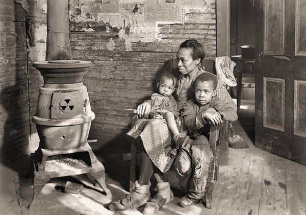 Photograph - March 1937 Scott's Run, West Virginia Johnson Family. by Lewis Hine Presented by Joy of Life Art