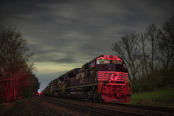 Norfolk Southern Wall Art - Photograph - March 25 2017 Ns 871 At Lyle Siding Princeton In by Jim Pearson