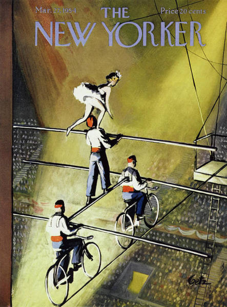 Bicycle Painting - New Yorker March 27 1954 by Arthur Getz