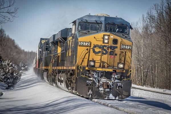 Subdivision Photograph - March 5. 2015 - Csx Q025 by Jim Pearson