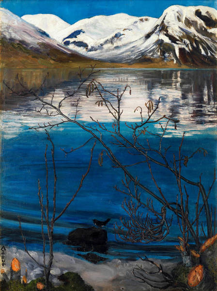 Wall Art - Painting - March Atmosphere At Jolstravatnet by Nicolai Astrup