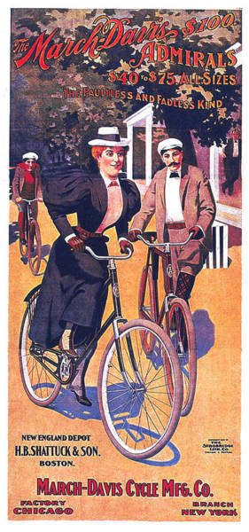 Wall Art - Mixed Media - March-davis Cycle Mfg Co - Bicycle - Vintage Advertising Poster by Studio Grafiikka