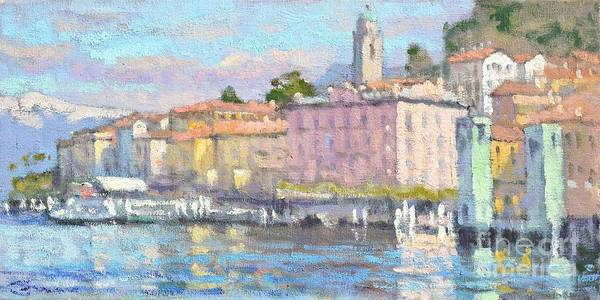 Lake Como Painting - March In Bellagio by Jerry Fresia