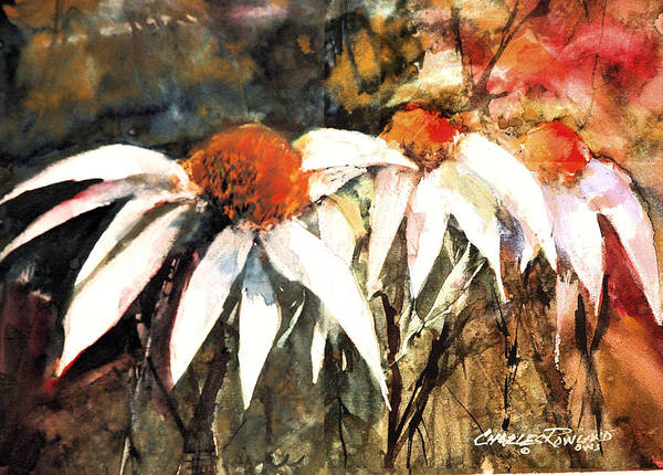 Painting - March Of The Cone Flowers by Charles Rowland