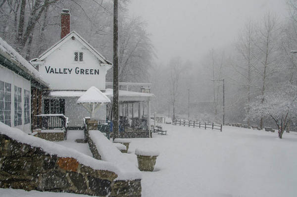 Photograph - March Snow At Valley Green by Bill Cannon