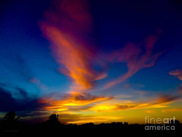 Sunset March 31, 2018 Art Print