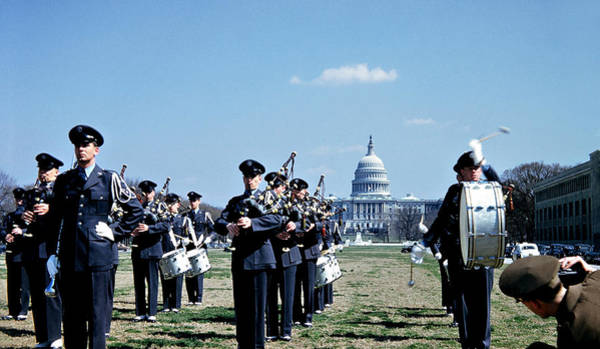 Photograph - Marching Band At Capitol 1951 by Marilyn Hunt