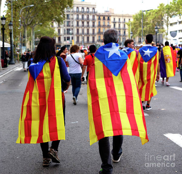 Photograph - Marching In Barcelona by John Rizzuto