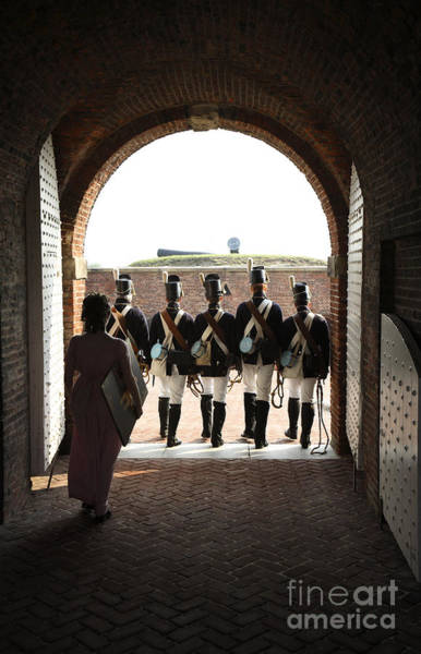 Maryland Wall Art - Photograph - Marching Off On Detail At Fort Mchenry by William Kuta