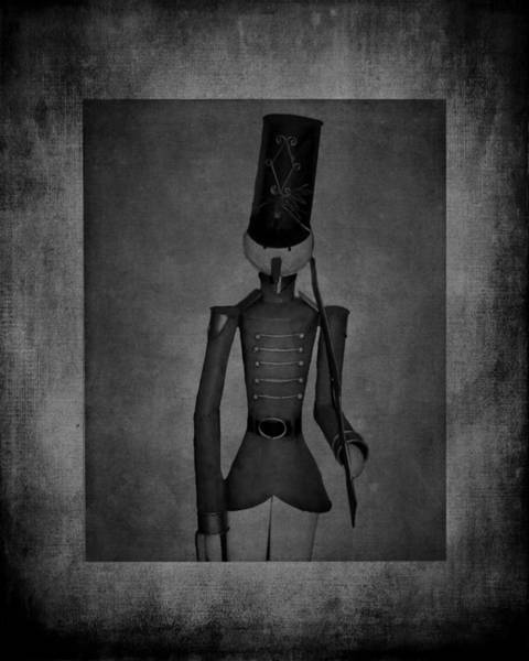Photograph - Marching Soldier Bw by Lesa Fine