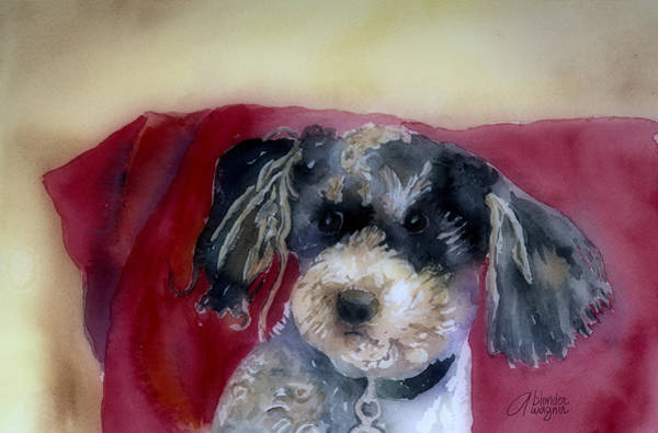 Mutt Painting - Marci by Arline Wagner