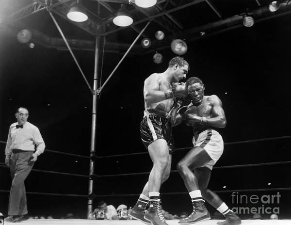 Photograph - Marciano And Charles, 1954 by Granger