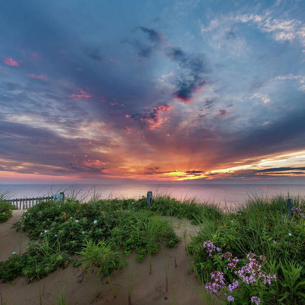 Wellfleet Photograph - Marconi Station Sunrise Square by Bill Wakeley