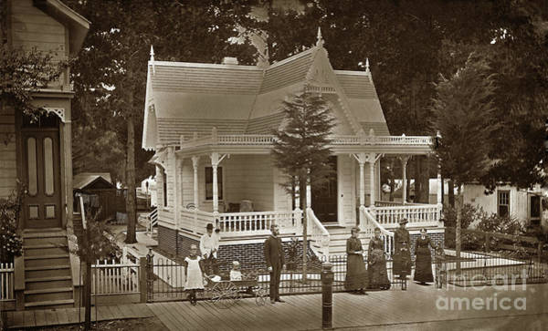 Photograph -  Marcus D. Hyde Residence 148 Forest Ave.  Pacific Grove 1898 by California Views Archives Mr Pat Hathaway Archives