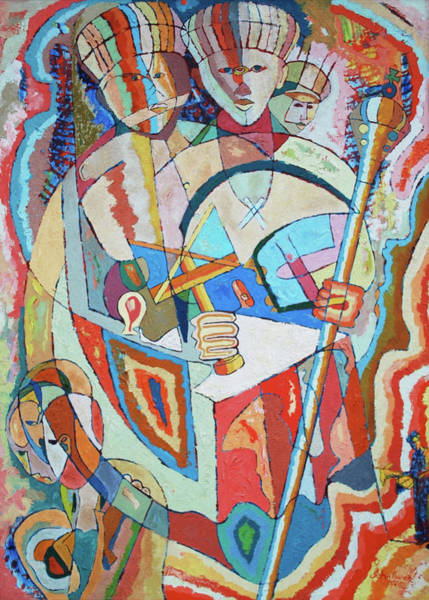 Conceptualism Painting - Marcus Garvey And Elders by John Powell