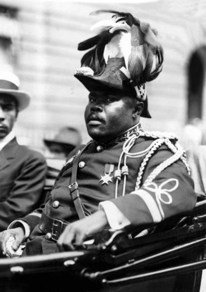 Wall Art - Photograph - Marcus Garvey, The Negro Moses, Rides by Everett