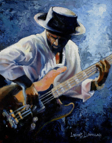 Jazz-funk Painting - Marcus  by Lewis Bowman