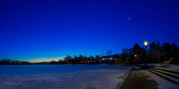 Photograph - Marcy Casino Winter Twilight by Chris Bordeleau