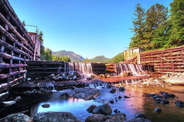 Photograph - Marcy Dam Waterfall In The Adirondacks North Elba by Toby McGuire