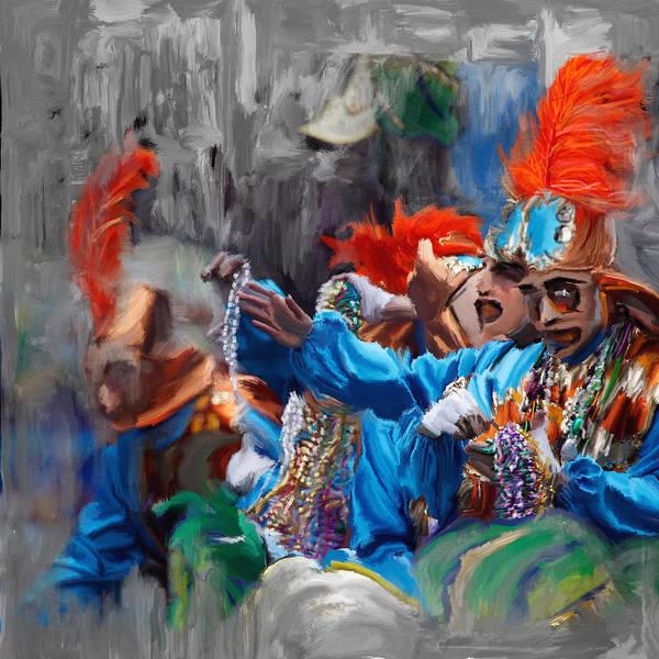 Ashes Painting - Mardi Gras 242  by Mawra Tahreem