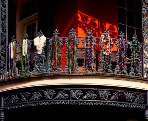 Wall Art - Photograph - Mardi Gras Beads - French Quarter by Mountain Dreams