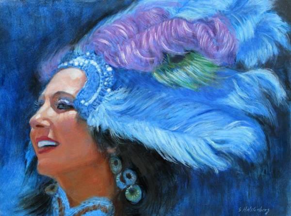 Wall Art - Painting - Mardi Gras Girl by Sue Halstenberg