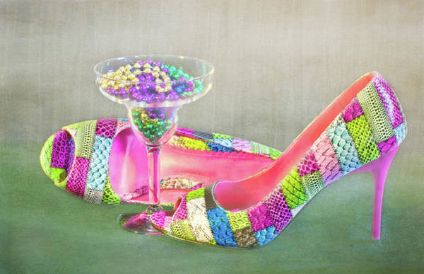 Photograph - Mardi Gras Heels by Patti Deters