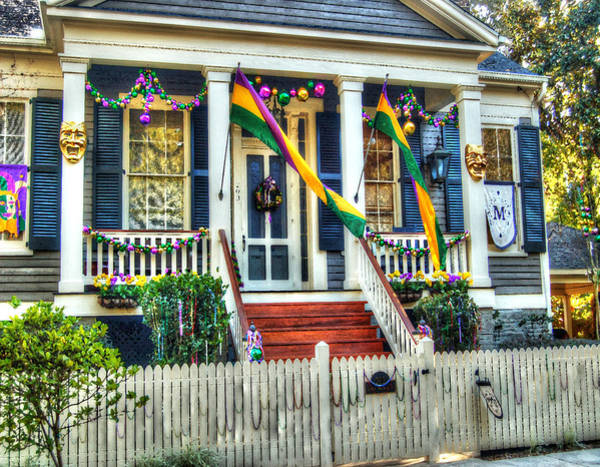 Photograph - Mardi Gras House In Mobile Alabama by Michael Thomas