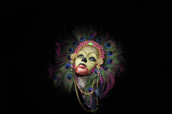 Wall Art - Photograph - Mardi Gras Mask In New Orleans, Louisiana by Art Spectrum