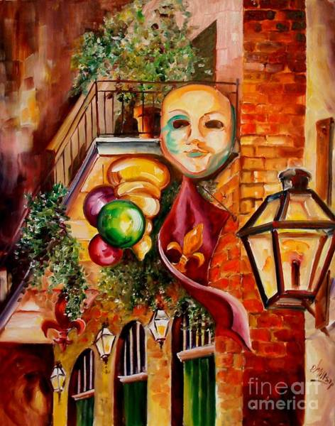 Wall Art - Painting - Mardi Gras Night by Diane Millsap