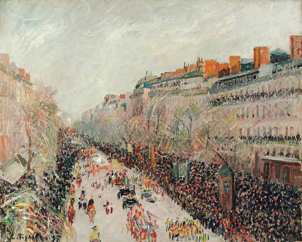 Boulevard Painting - Mardi Gras On The Boulevards by Camille Pissarro
