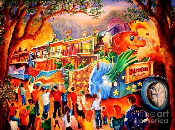 Wall Art - Painting - Mardi Gras With Endymion by Diane Millsap
