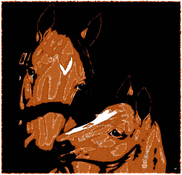 Appeal Digital Art - Mare And Colt by Will Borden