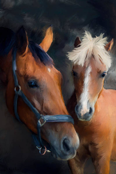 Painting - Mare And Foal by Diane Chandler