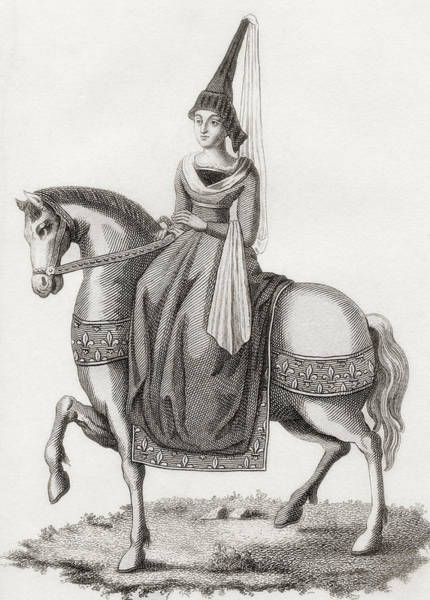Wall Art - Drawing - Margaret Of Scotland, 1424 by Vintage Design Pics