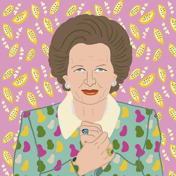 Feminist Digital Art - Margaret Thatcher by Nicole Wilson