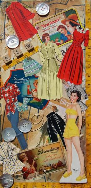 Paper Dress Mixed Media - Margie by Virginia Coyle