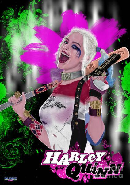 Margot Robbie's Harley Quinn Art Print by Joseph Burke
