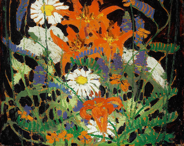 Painting - Marguerites, Wood Lillies And Vetch by Tom Thomson