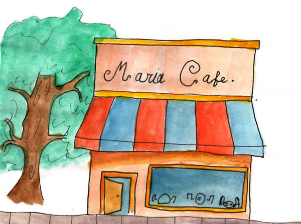 Inking Painting - Maria Cafe by Sindy Original