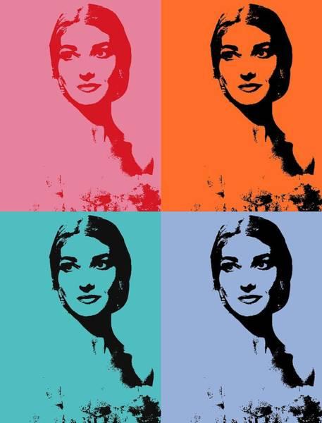Calla Mixed Media - Maria Callas Pop Art Panels by Dan Sproul